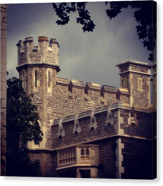 Tower Of London Canvas Print - Stormy Skies Over The Tower Of London by Heidi Hermes