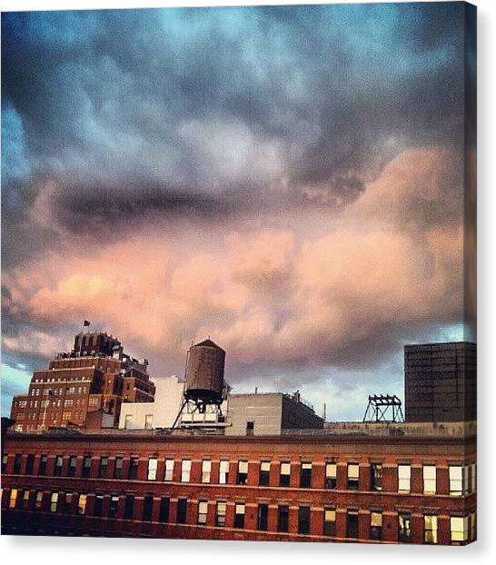 Steampunk Canvas Print - Stormy Sunset by Rachel Waters