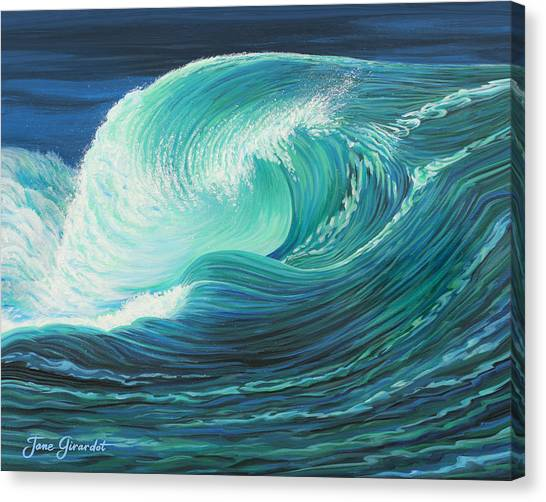 Stormy Wave Canvas Print