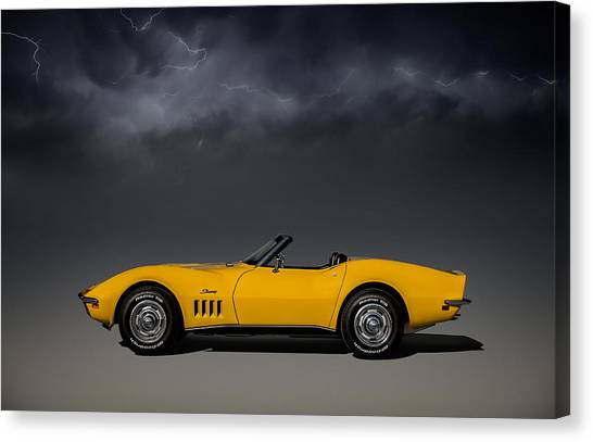 Chevrolet Corvette Canvas Print - Stormy Weather by Douglas Pittman