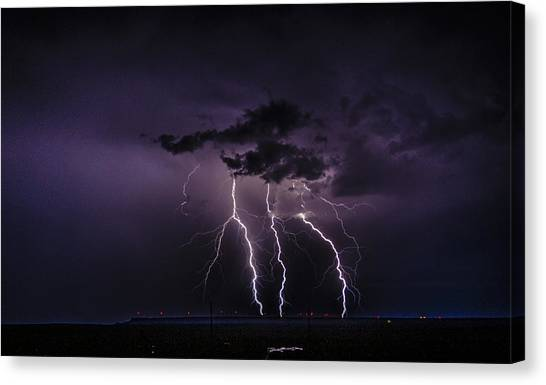 Stormy Wind Farm Canvas Print
