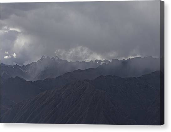 Storm Over The Andes Canvas Print