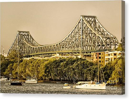 Story Bridge - Icon Of Brisbane Australia Canvas Print