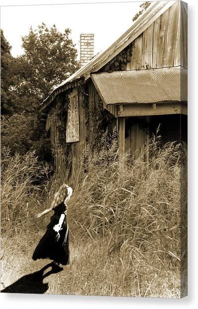 Story Of A Girl - Rural Life Canvas Print