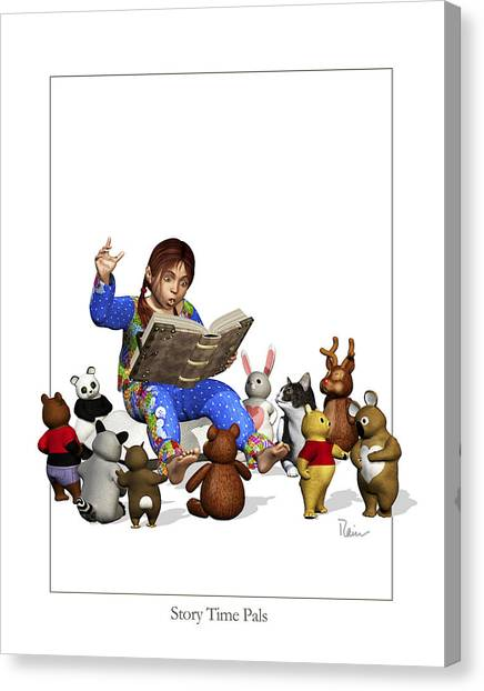 Story Time Pals Canvas Print