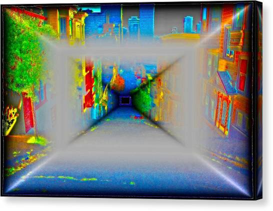 Comic Book Alley Canvas Print