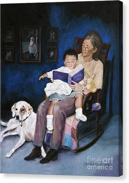 Storytime Canvas Print by Stella Violano