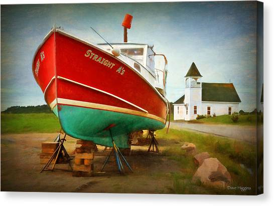 Straight A's  Beals Deals Island  Maine Canvas Print by Dave Higgins