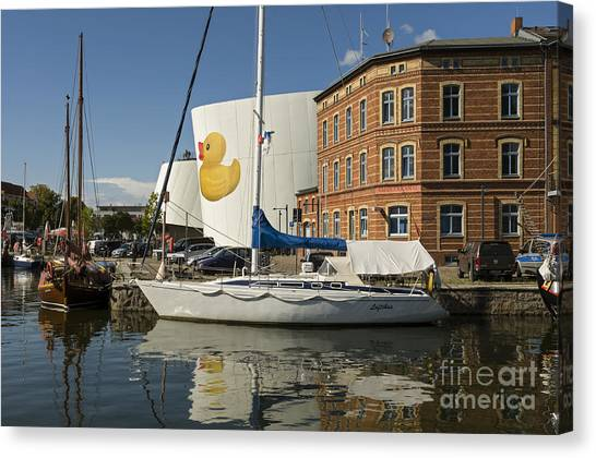 Stralsund Harbour Germany. Canvas Print by David Davies