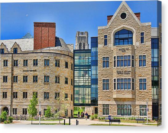 University Of Toledo Canvas Print - Stranahan Hall University Of Toledo 2217 by Jack Schultz
