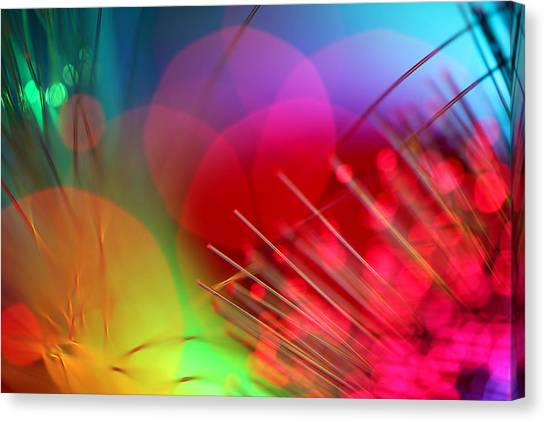 Abstract Digital Art Canvas Print - Strange Days by Dazzle Zazz