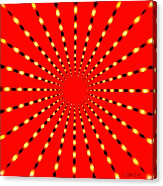 Strange Sun Rays Canvas Print