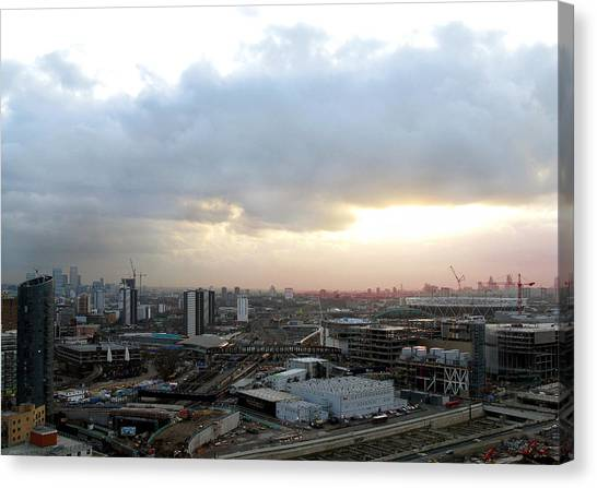Canvas Print featuring the photograph Stratford 2 by Helene U Taylor