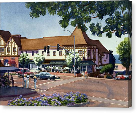 Squares Canvas Print - Stratford Square Del Mar by Mary Helmreich