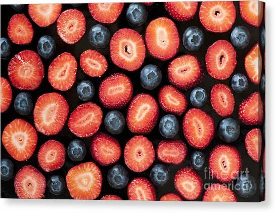 Fruit Canvas Print - Strawberries And Blueberries by Tim Gainey