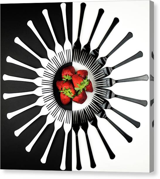 Strawberries Canvas Print - Strawberry Designs by Mike Melnotte