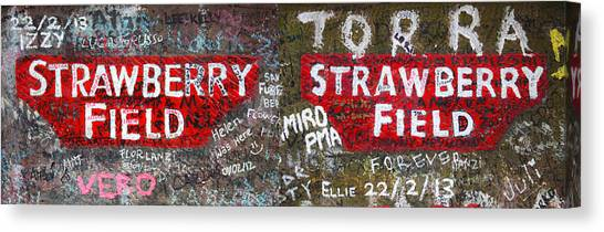Salvation Army Canvas Print - Strawberry Fields Forever by Semmick Photo