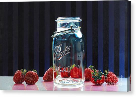 Strawberry Jam Canvas Print by Arlene Steinberg