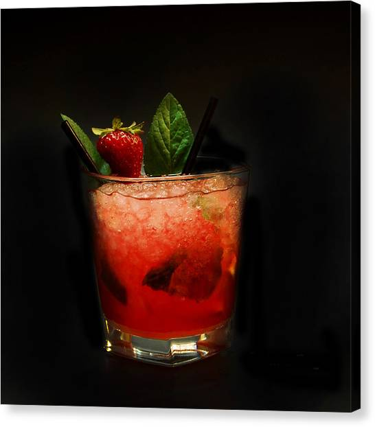 Strawberry Mojito Canvas Print
