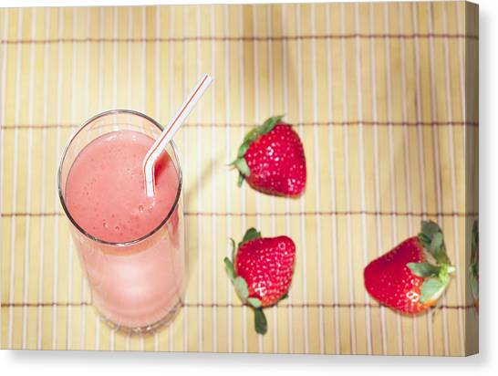 Smoothie Canvas Print - Strawberry Smoothie by Alexey Stiop