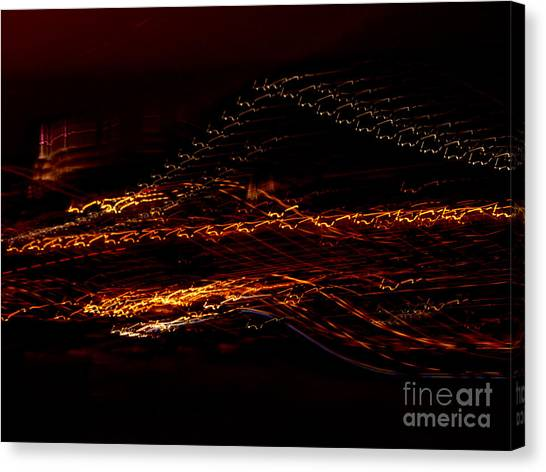 Streaks Across The Bridge Canvas Print
