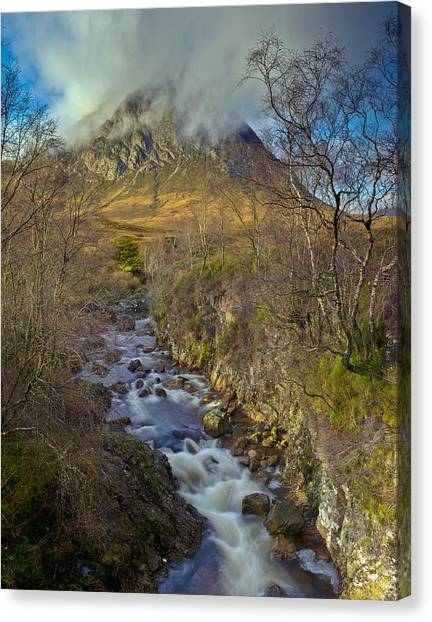 Stream Below Buachaille Etive Mor Canvas Print