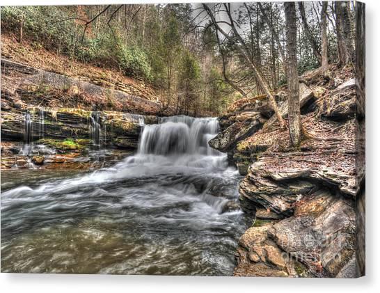 Stream Near Thurmond Wv Canvas Print by Dan Friend