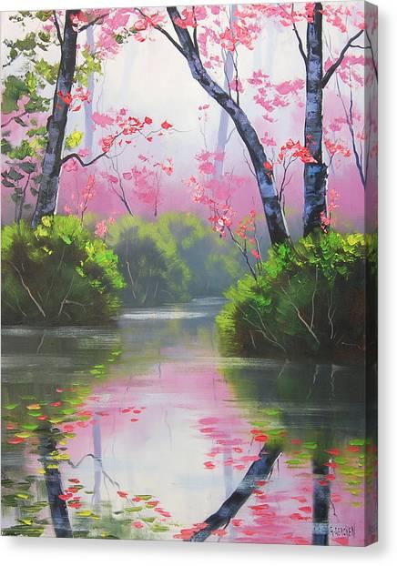 Blossom Canvas Print - Stream Reflections by Graham Gercken