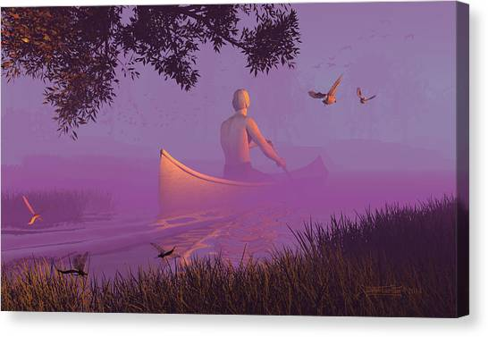 Streamglider Canvas Print