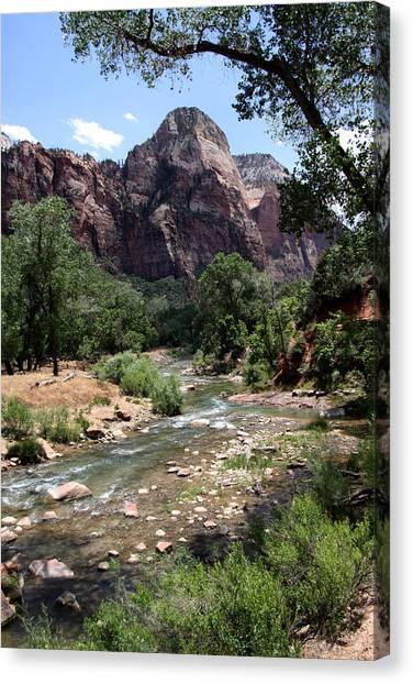 Streaming Vista In Utah Canvas Print