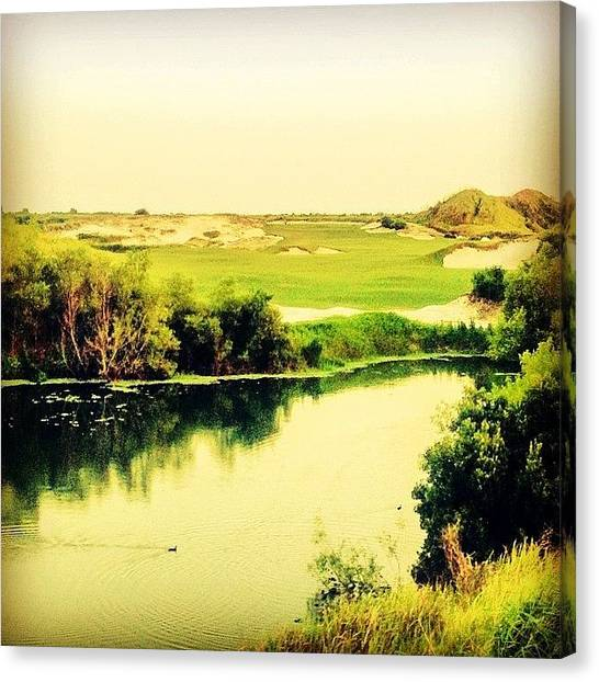Sports Canvas Print - Streamsong #golf #iphone5 #instagram by Scott Pellegrin