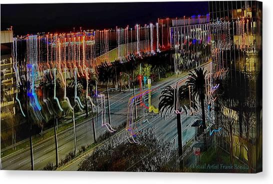 Canvas Print featuring the digital art Street Art II by Visual Artist Frank Bonilla