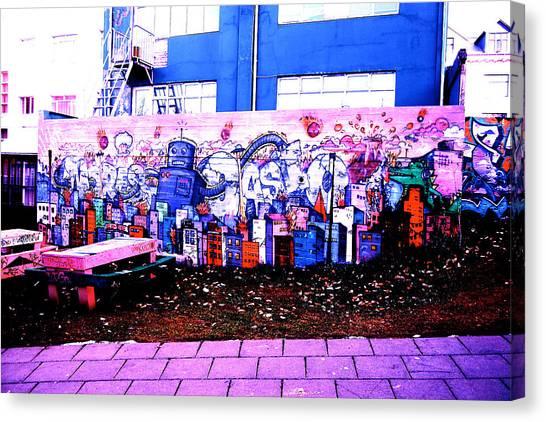Canvas Print featuring the photograph Street Art by HweeYen Ong
