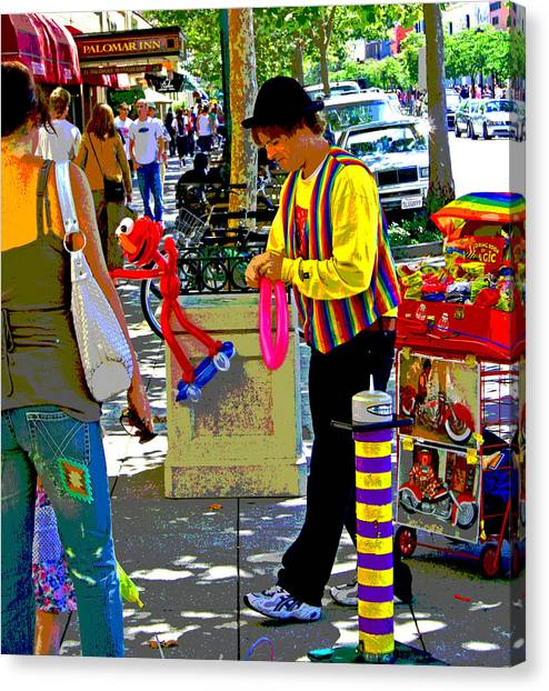 Street Balloon Art Canvas Print