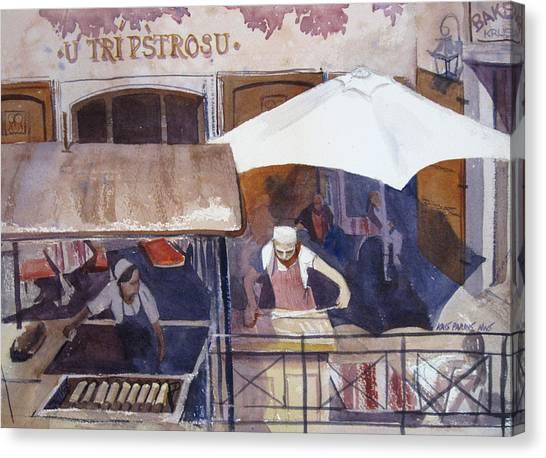 Street Chef Canvas Print