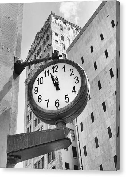 Street Clock Canvas Print