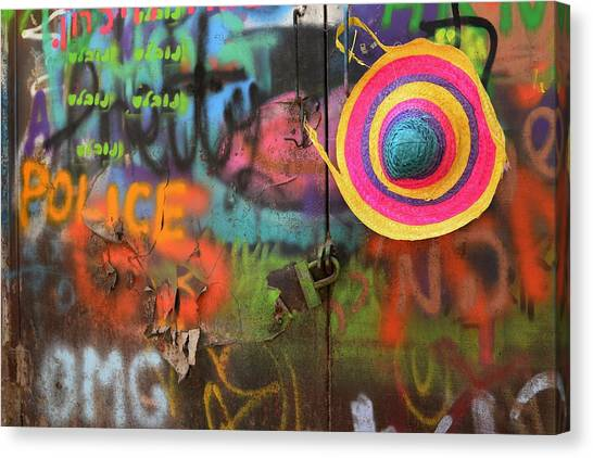 Street Canvas Print - Street Colors by Izak Katz