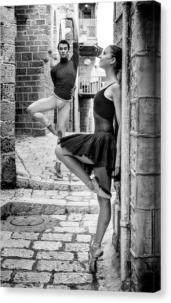 Israeli Canvas Print - Street Dance by Ohad Falik