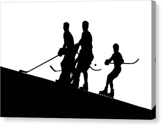 Street Hockey Canvas Print