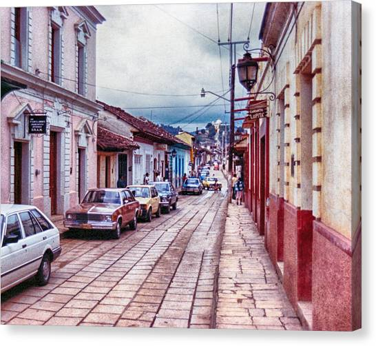 Street In Las Casas Canvas Print