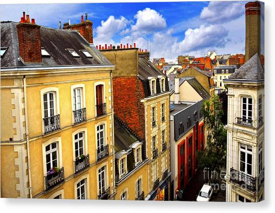 Touring Canvas Print - Street In Rennes by Elena Elisseeva