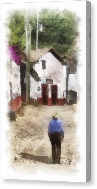Street In San Sebastian Canvas Print