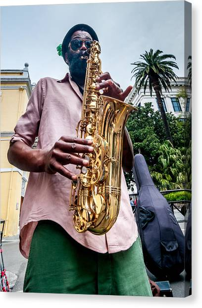 Street Jazz On Display Canvas Print