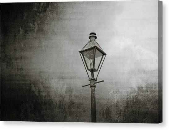 Street Lamp On The River Canvas Print