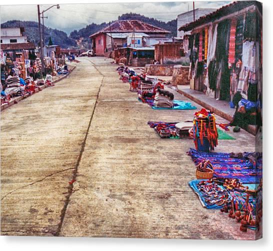 Street Market Canvas Print
