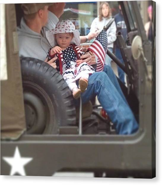 Jeep Canvas Print - #street #memorialweekend #memorial by Tracy Hager