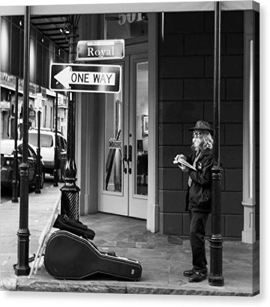 Street Scenes Canvas Print - Waiting For Music by Tiffany Wuest