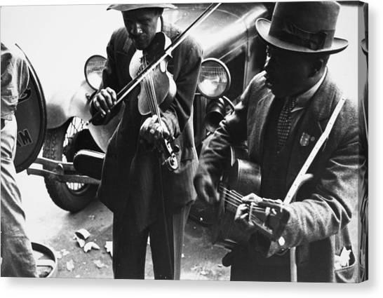 Street Musicians, 1935 Canvas Print by Granger