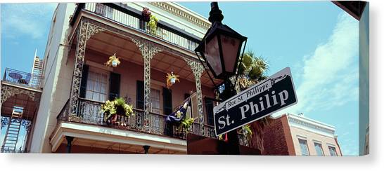Mardi Gras Canvas Print - Street Name Signboard On A Lamppost by Panoramic Images