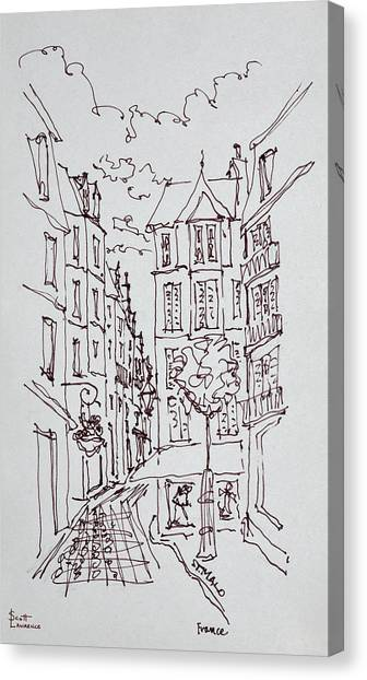 Scotty Canvas Print - Street Scene, Saint-malo, Brittany by Richard Lawrence